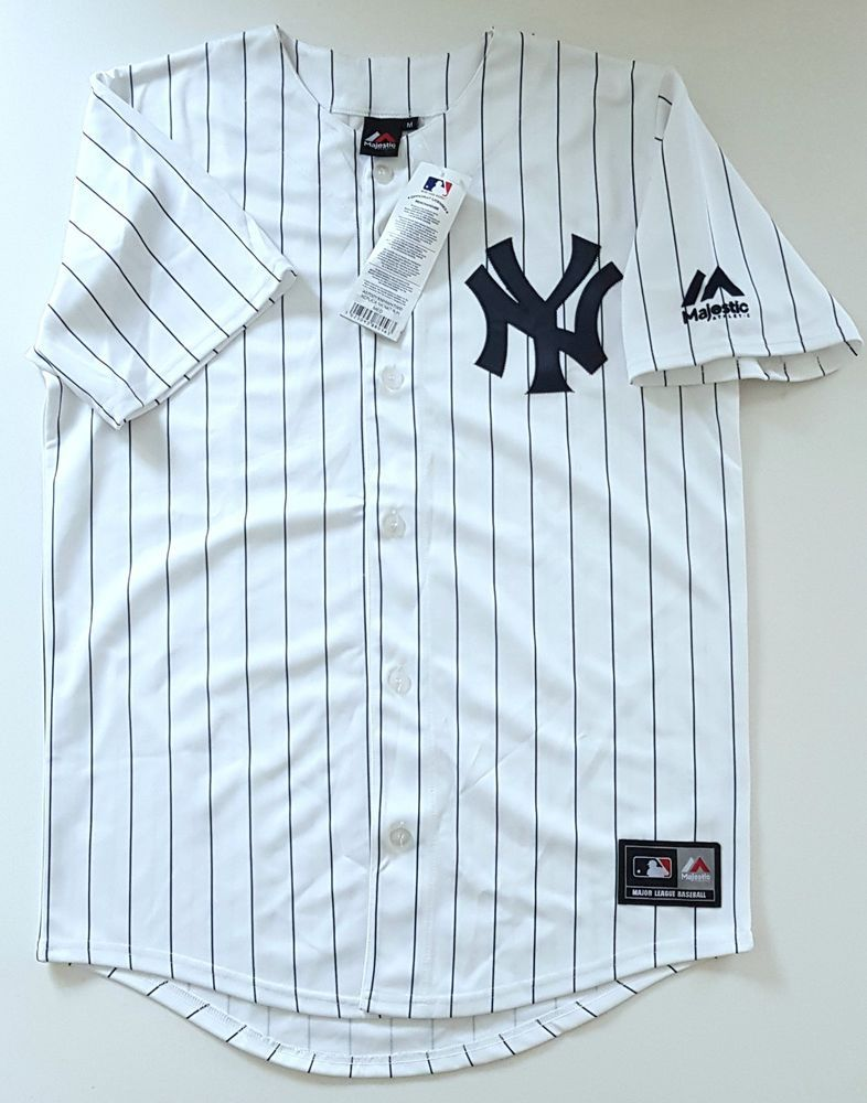 d4666b8d04a MAJESTIC NEW YORK YANKEES NY Official MLB Baseball Jersey Shirt Authentic  Men M  Majestic