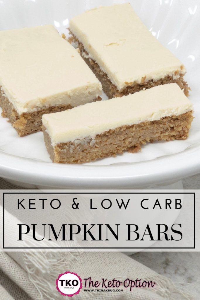 keto pumpkin bars | Keto Diet | Keto Diet For Beginners | Low Carb Recipes | visit trinakrug.com/recipes #ketorecipesforbeginners