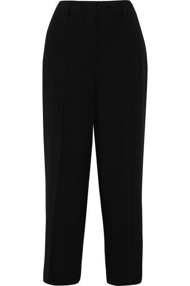 Cropped Crepe Straight-leg Pants - Black Prada ZPwK2QF2