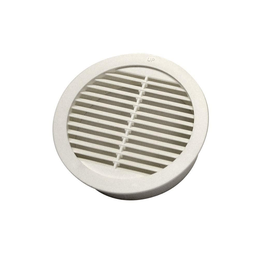 Amerimax Home Products 41 In X 22 In Accuvent Vinyl Attic Airway And Soffit Vent In Black Accuvent The Home Depot In 2020 Circular Blown In Insulation Attic Fan
