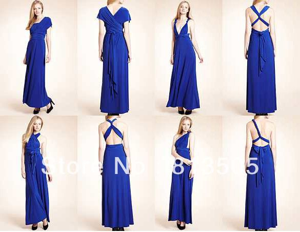 Maxi Dress Free Shipping Cheapest Jersey Multi Way Wraps Royal Blue  Convertible Bridesmaid Dress Evening Party Dress Long Style US  54.98 aea64c7d6d3f
