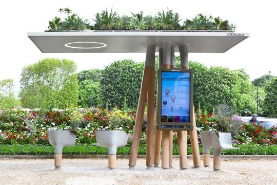 La ville connect e vers un espace public num ris for Mobilier urbain espace public