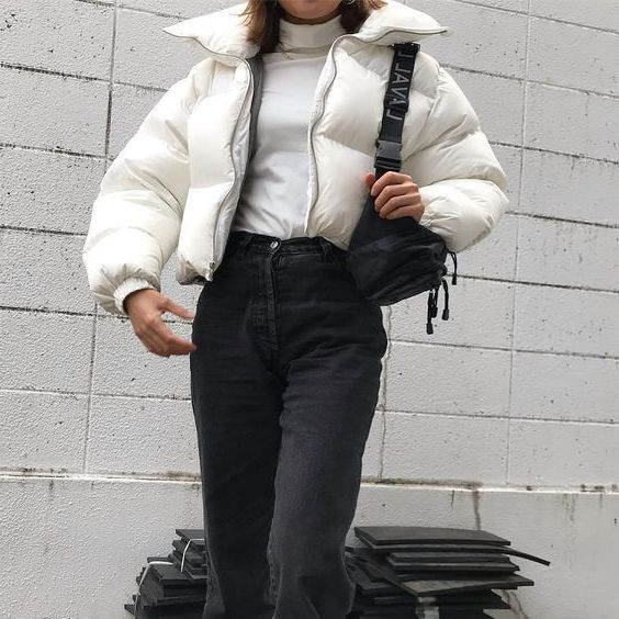 What To Wear With Puffer Jackets For Women This Winter: Best Guide 2019 #ballet fitness clothes #fit...