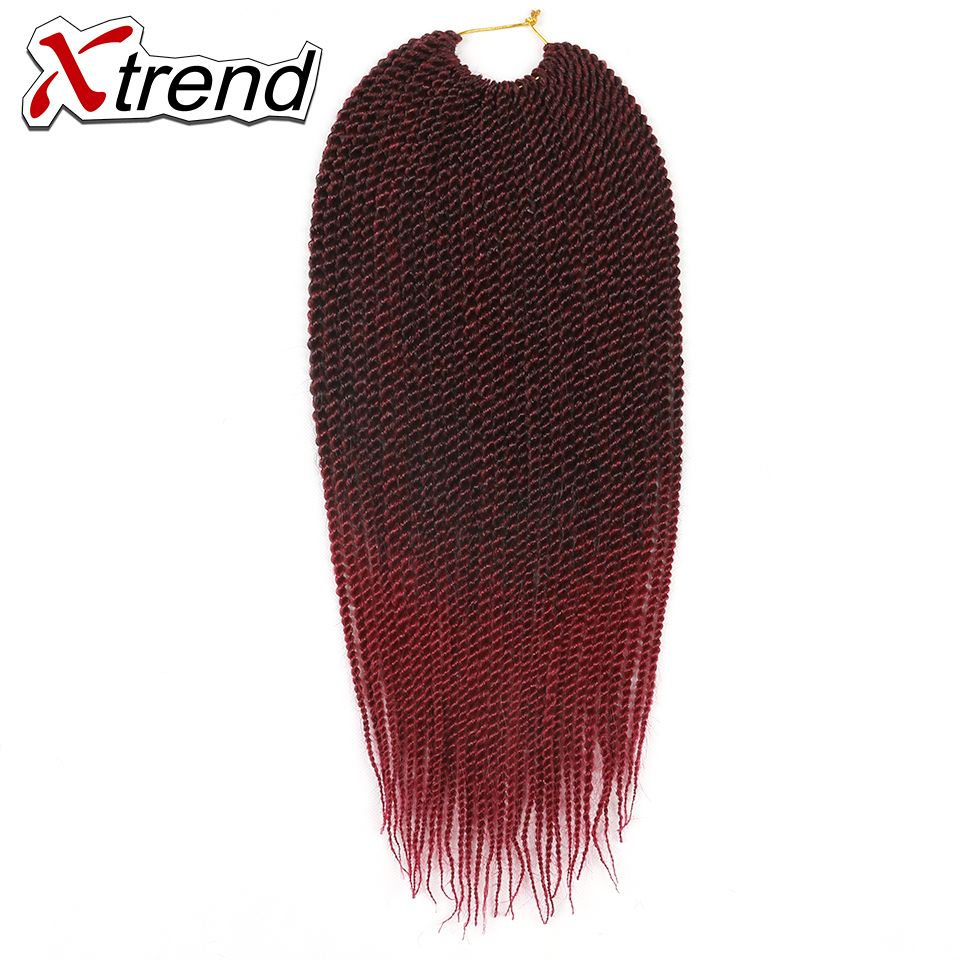 Xtrend senegalese twist synthetic ombre braiding hair uu roots