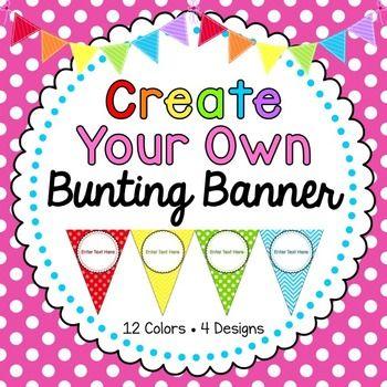Editable Banner Chevron Clroom Rainbow