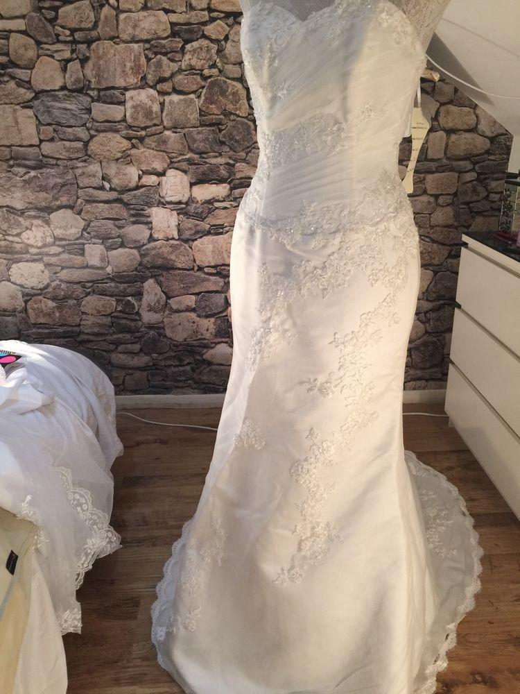 Wedding Dress Bridal gown Margaret Lee size 12 Ivory UK Seller ...