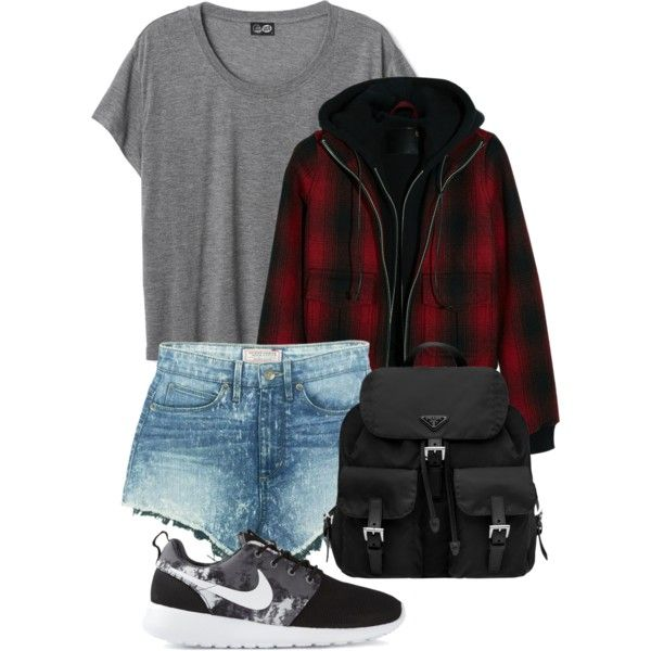 Sin título #330 by denise-directioner on Polyvore featuring moda, R13, GUESS, NIKE and Prada