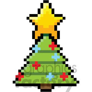 8 bit christmas tree vector art #christmas #8bit #tree ...