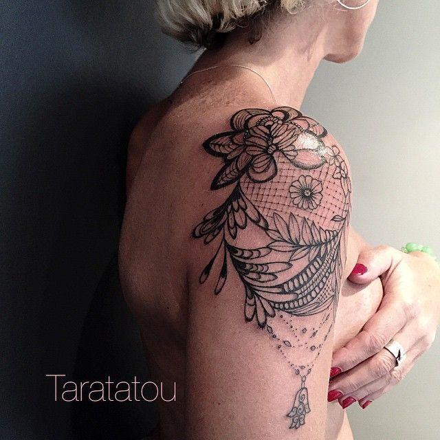 tatouage tattoo paule dentelle filigrane paris inked taratatou tattoo tatouage. Black Bedroom Furniture Sets. Home Design Ideas