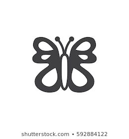 Similar Images, Stock Photos & Vectors of Simple butterfly