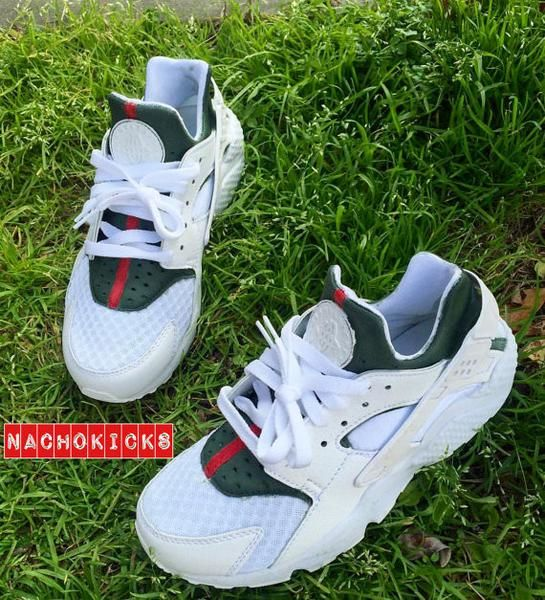 3aa6c40ff116 Custom White Nike Air Huarache x Gucci - OGV Shop - 1