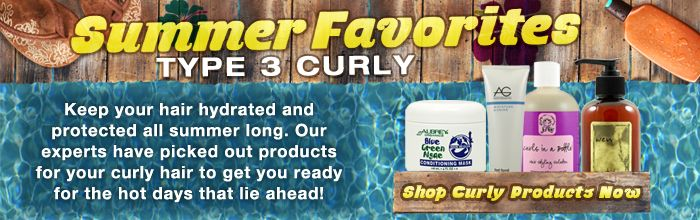 Curly Hair Summer Products