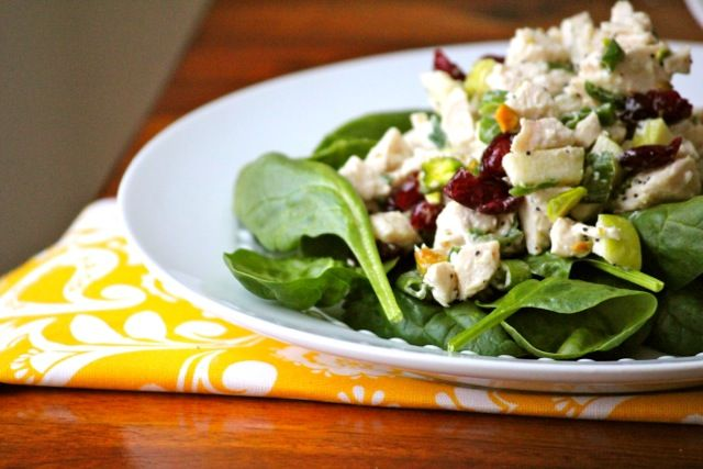 Chicken Salad w/ Dried Cherries and Pistachios