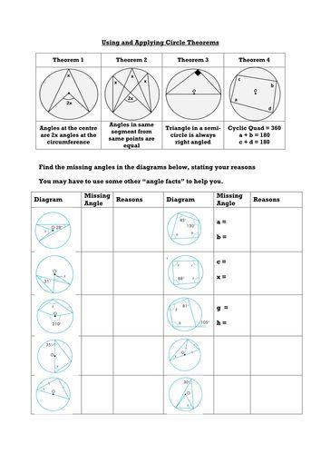 Circle Theorems Complete Lesson 2 Geometry Pinterest Maths