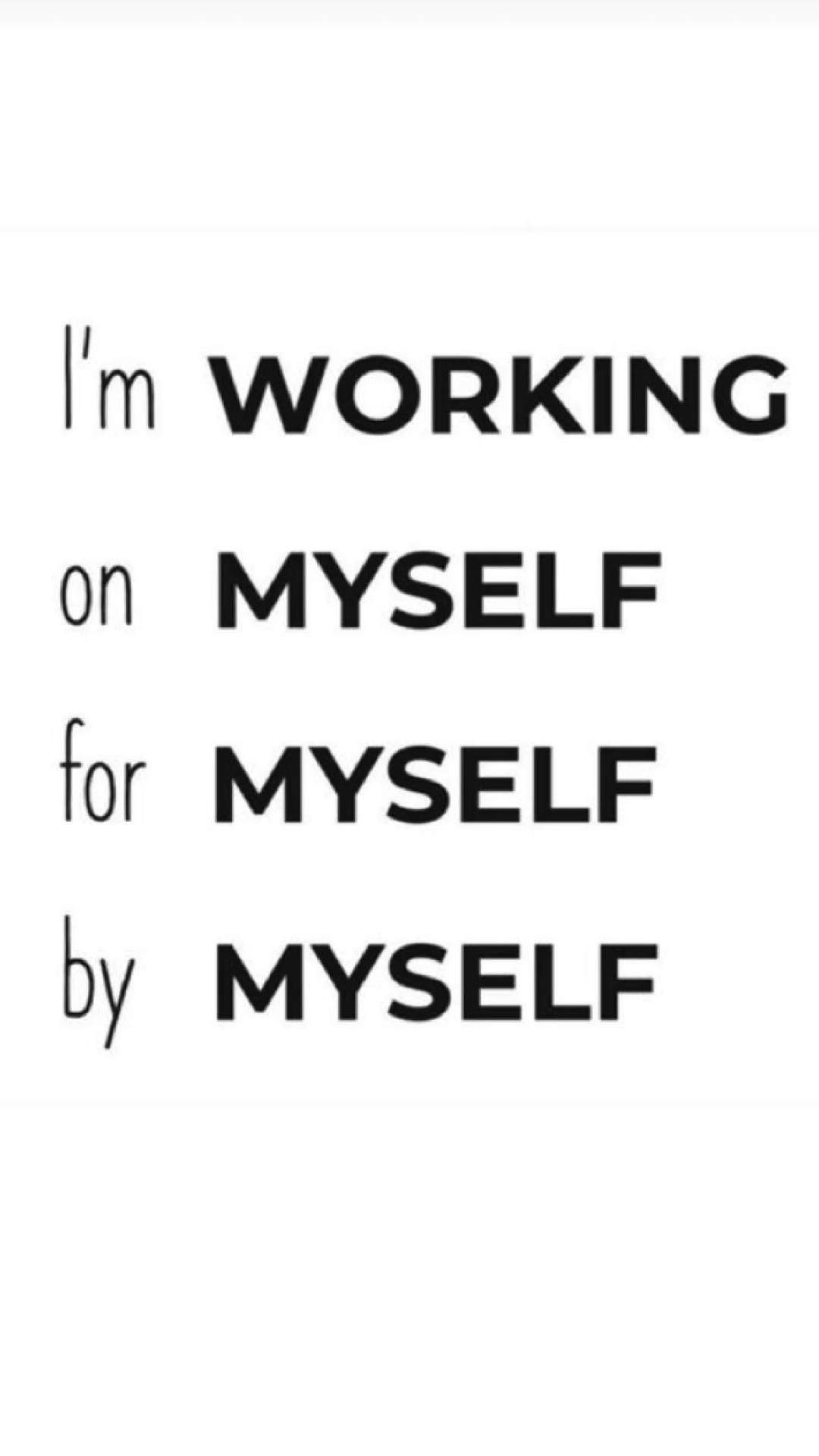 Work on yourself for yourself in silence