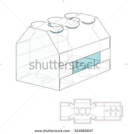 Box template fotografie snmky a obrzky shutterstock paper six bottle carrier with die cut template stock vector pronofoot35fo Gallery