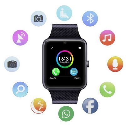 d6079e54e12 Get  MSRMUS  Smart  Watch Compatible for  Iphone 5s 6 6s 7 7s and  Android  4.3 above