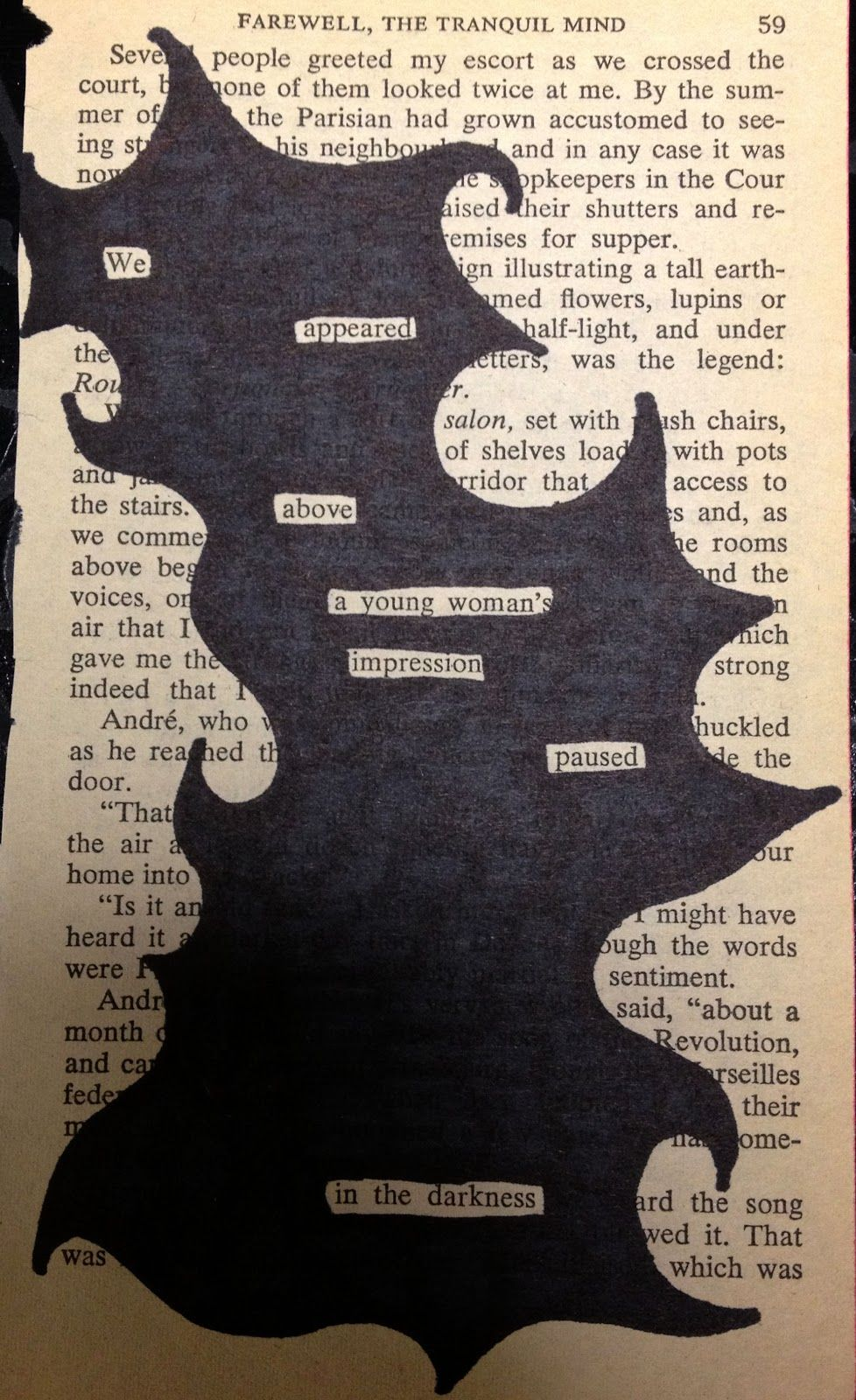 Image result for use words in a book to form a poem