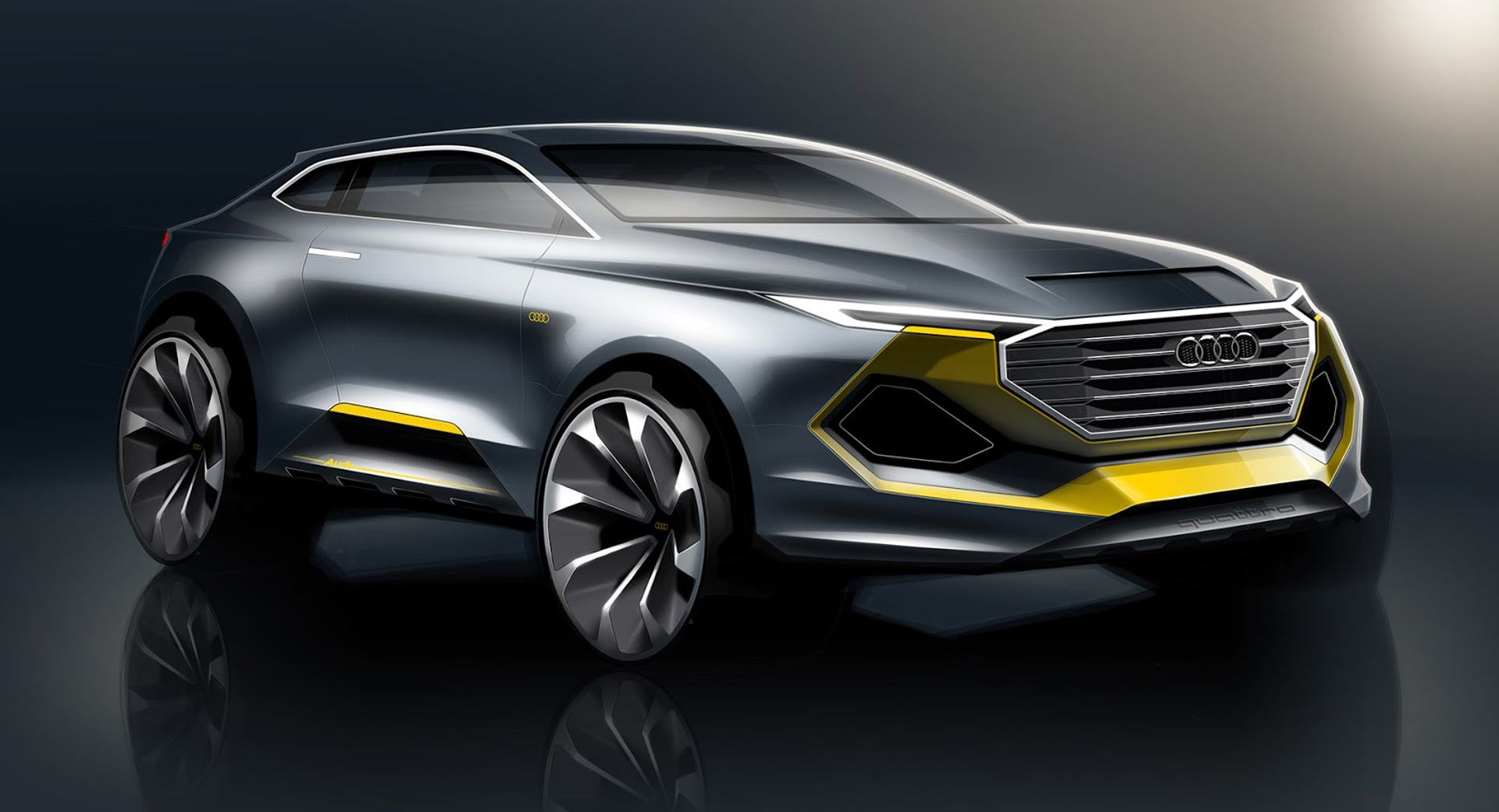 Audi Preparing Pint Sized Q1 Crossover For 2020 Carscoops Concept Cars Automotive Design Concept Car Design