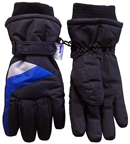 Boys Kids Winter Warm Waterproof Thinsulate Colorblocked Snow Ski Gloves