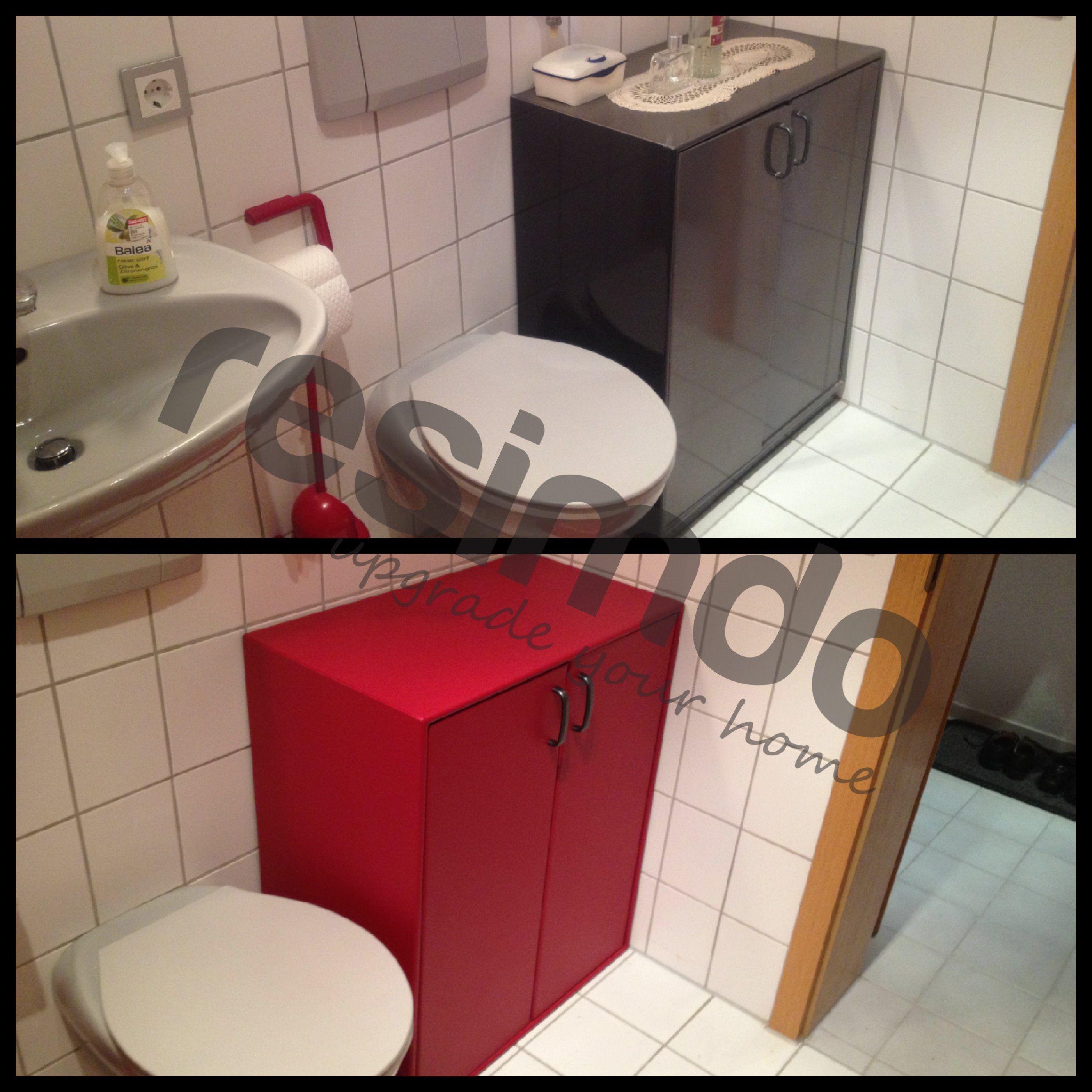 Badezimmer Renovieren Rot Mobel Folie Upcycling Schonerwohnen Interior Diy Homediy Heimwerken Badezimmer Renovieren Bad Renovieren Kosten Badezimmer