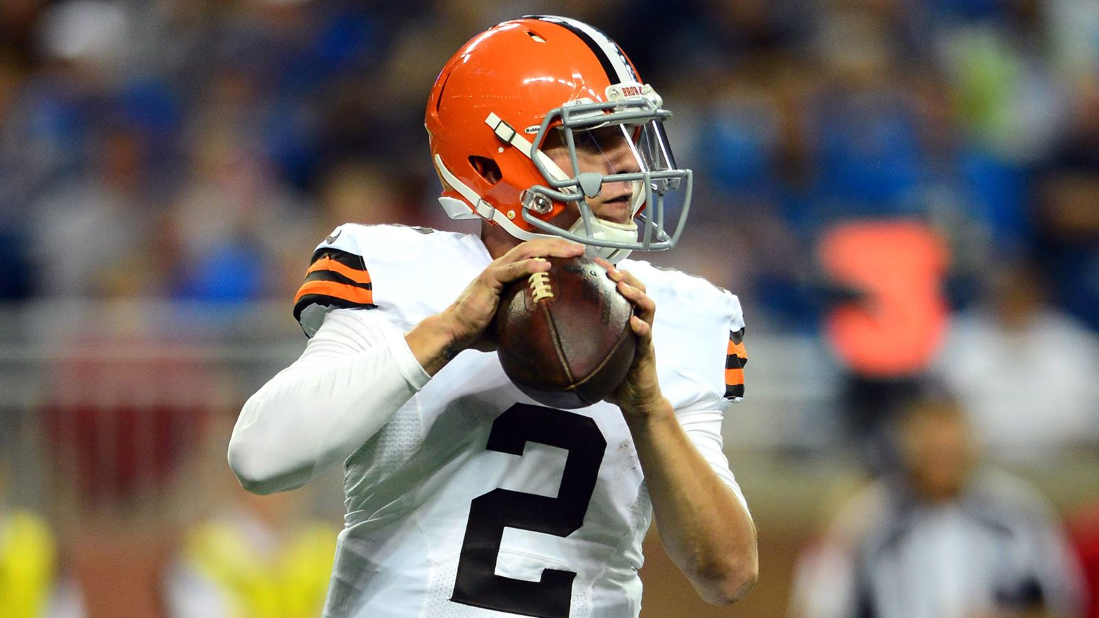 Hoyer Gets First Team Reps But Manziel Breaks Through With First Td Of Day One Team Johnny Manziel Football Helmets