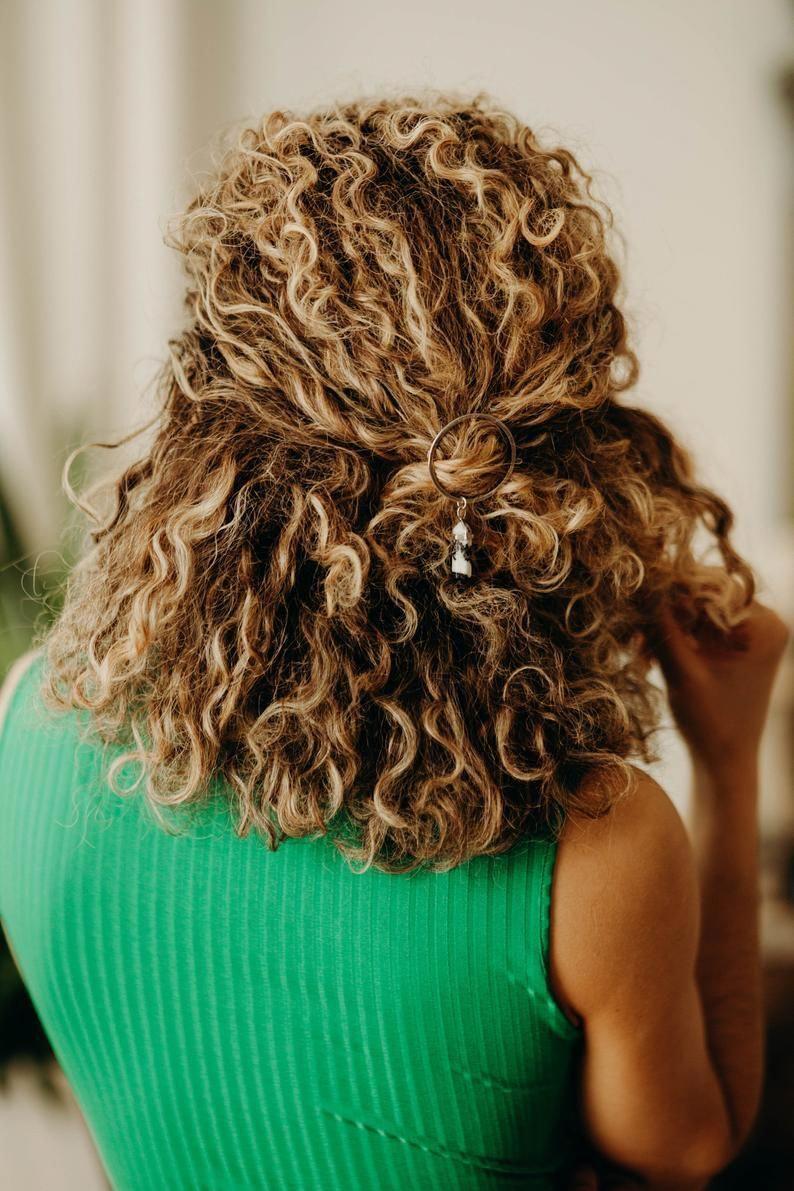Circle Crystal Hair Clips Accessories Barrette Womens Jewellery Tumblr Unique Jewelry Boho Hippie Bohemian Chri Hair Styles Curly Hair Photos Curly Hair Styles