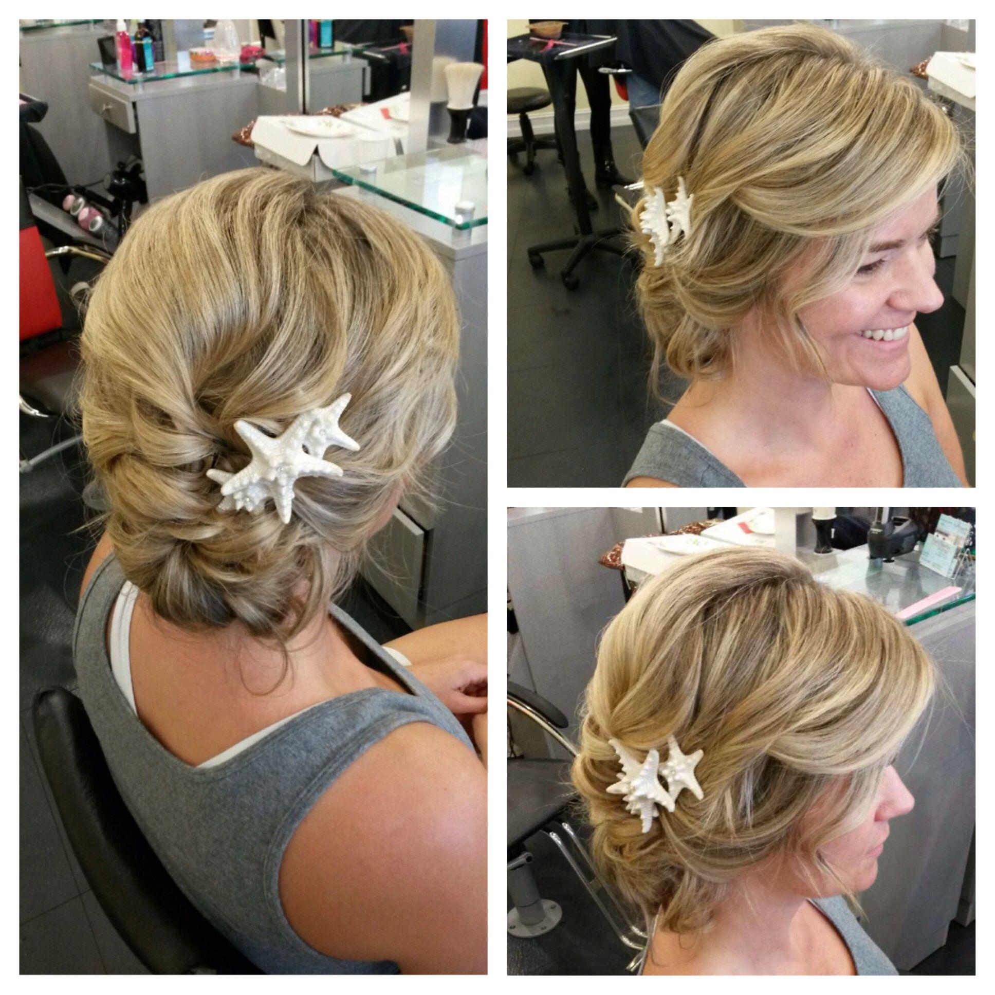 beach wedding updo | wedding ideas | beach wedding hair