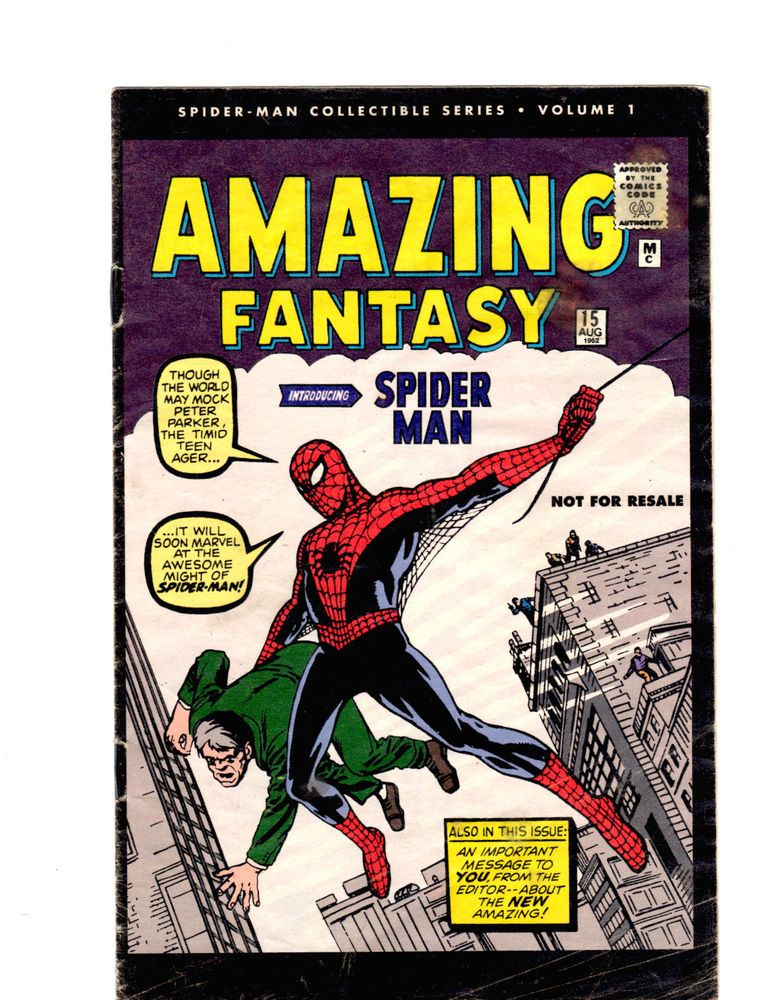 1962 Amazing Fantasy 2006 Reprint SpiderMan Collectible