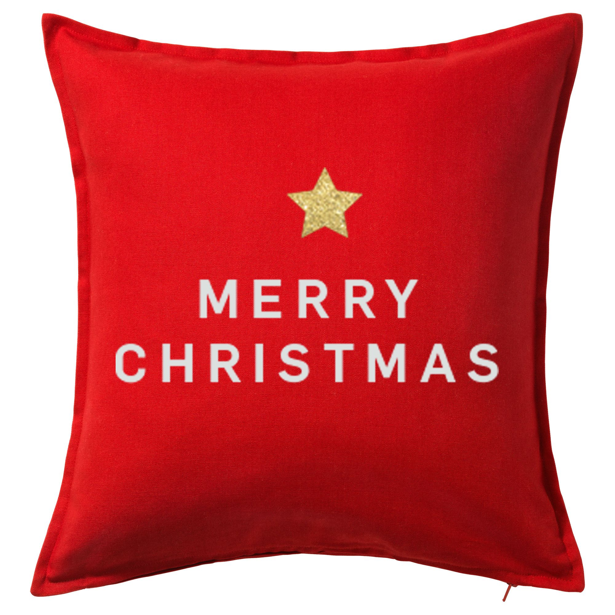 Merry christmasu red pillow interior christmas decoration