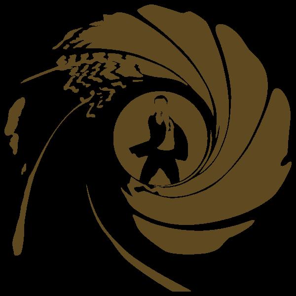 James Bond Gold Logo James Bond Party James Bond 007 James Bond