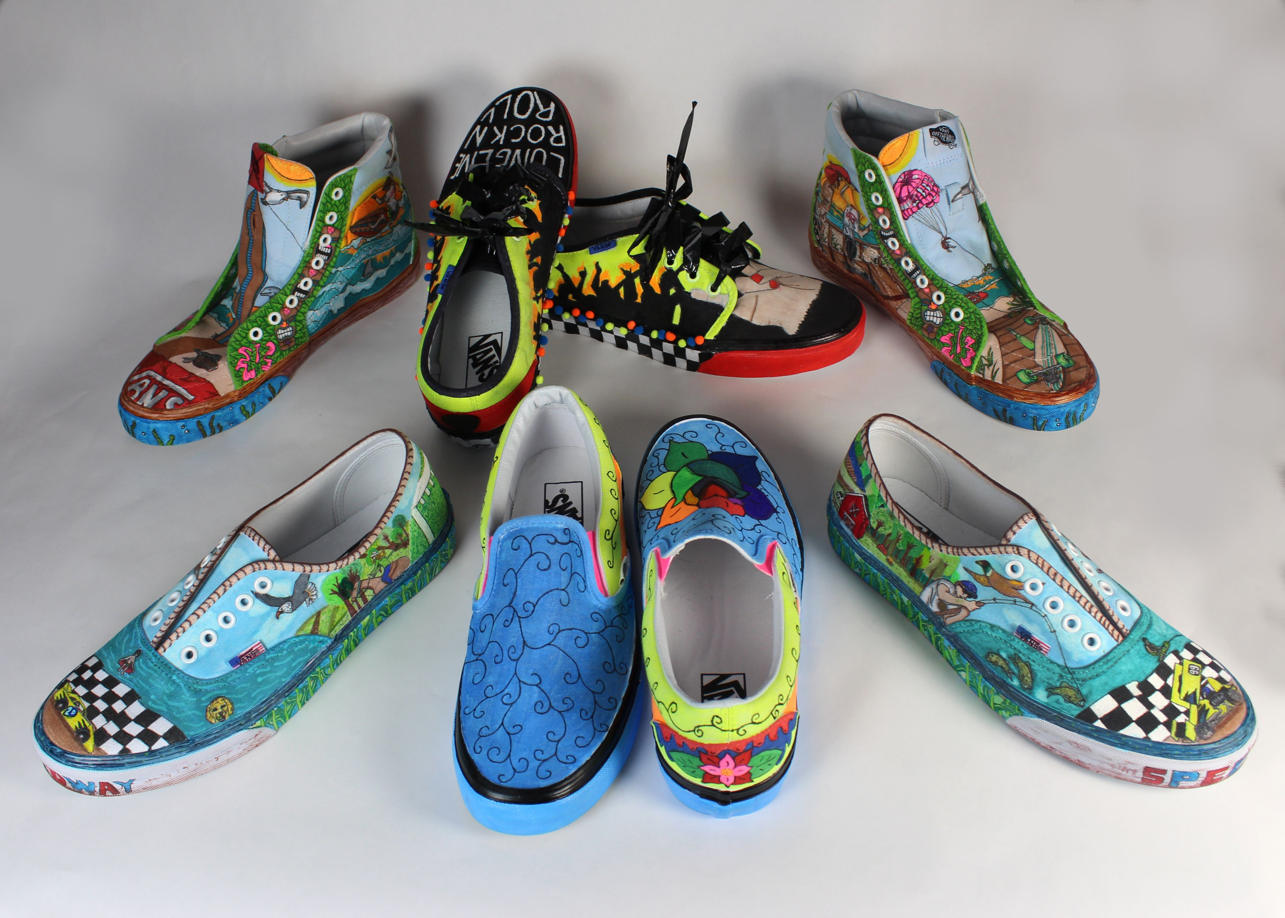 cb06e84d48 Our Advertising Art and Design student s submissions to the Vans Custom  Culture competition. These are some sweet shoes!
