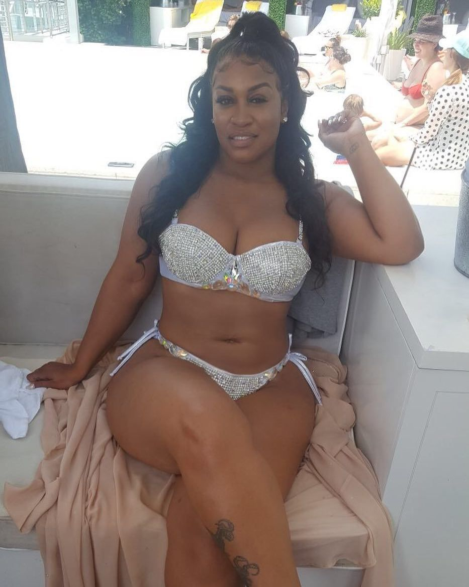 Thick big boobed black girl takes white cock 8