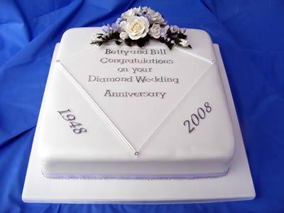 Diamondanniversary400 Jpg 400 300 Wedding Anniversary Cakes