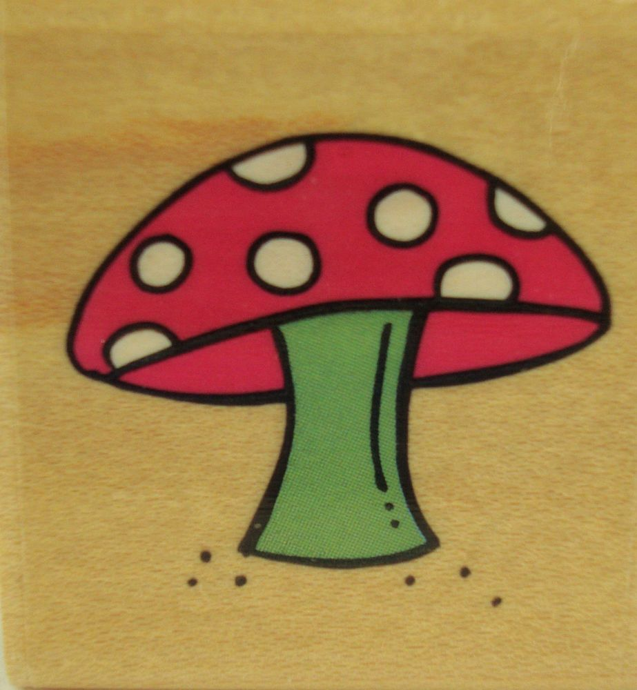 Mushroom Stampabilties C1039 Garden Plant Mounted Rubber Stamp  #Stampabilities