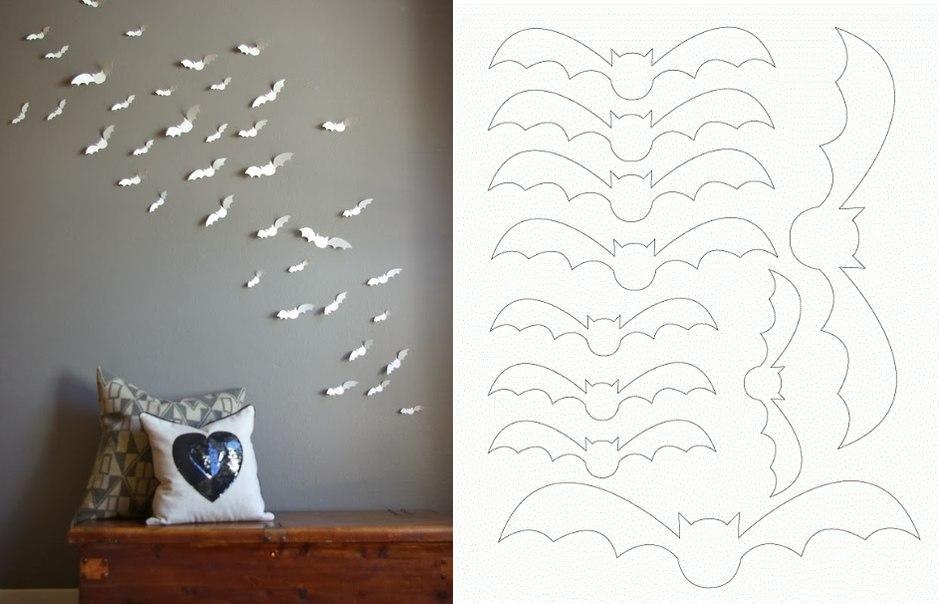 DIY Paper Bat Wall Art DIY Projects UsefulDIYcom Follow Us on