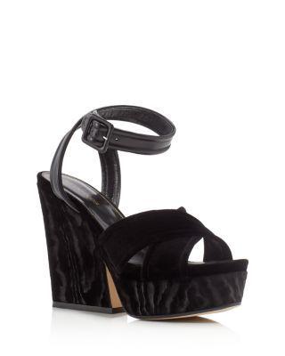 Wedge Sandals Hannelore velvet black Sergio Rossi 9uOLHcatz