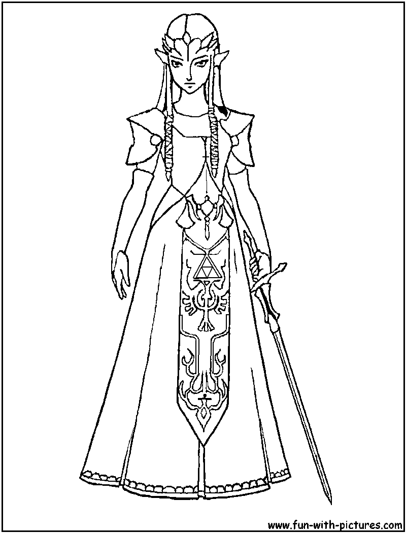 Zelda Coloring Page Princess Coloring Pages Coloring Pages Free Coloring Pages