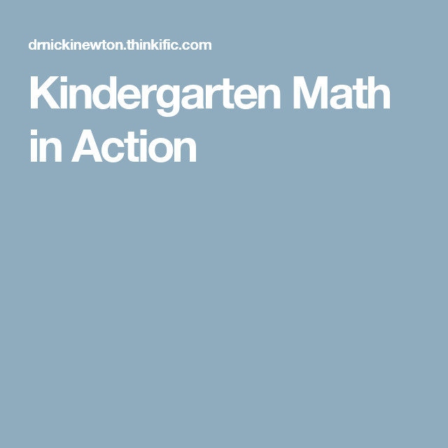 Kindergarten Math in Action | Kinder Math | Pinterest | Kindergarten ...