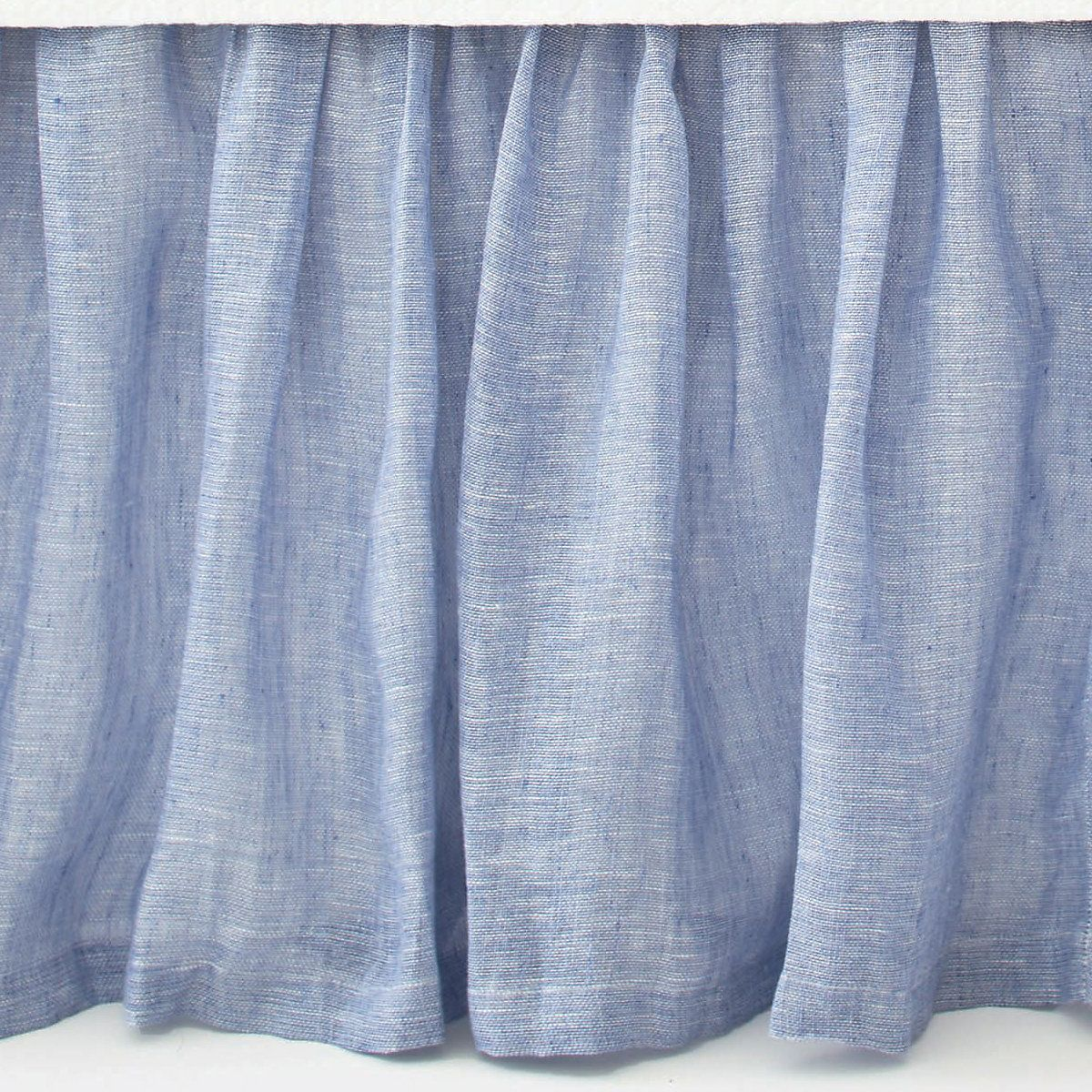 Pine Cone Hill Savannah Linen Chambray French Blue Bed Skirt Bedskirt Blue Bedding Blue Shades Colors
