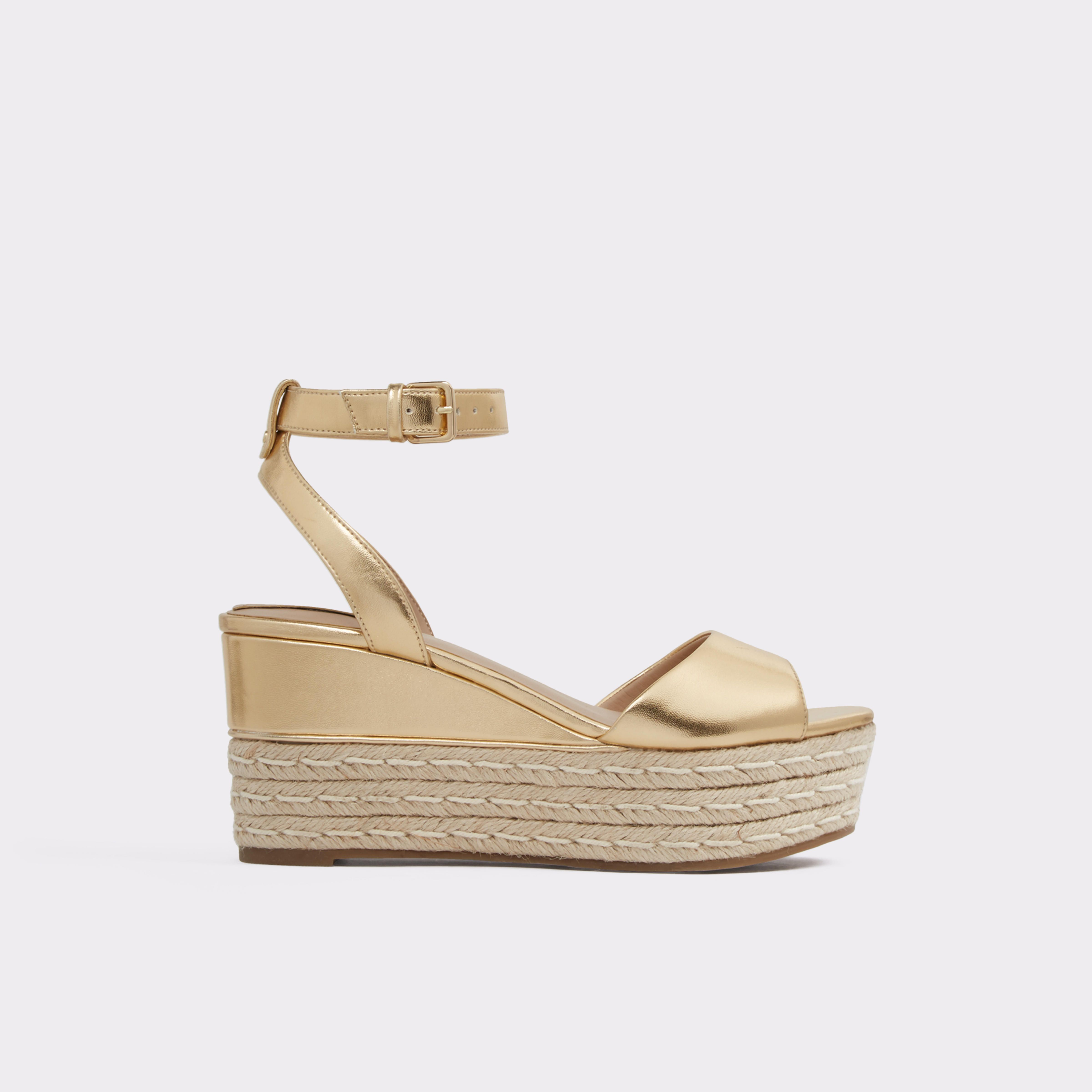 01861a4e23d11 Miraclya Gold Women s Wedges