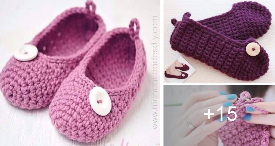 Pantuflas a crochet faciles paso a paso | Pantuflas, Zapatos, botas ...