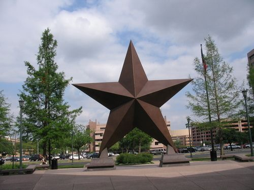 Giant star in front of hotel in Austin,Texas