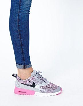 Nike Air Max Thea GreyPink Print Trainers   Sneakers rule