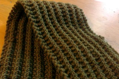 Moss stitch: 'My version of the scarf was knitted using ...
