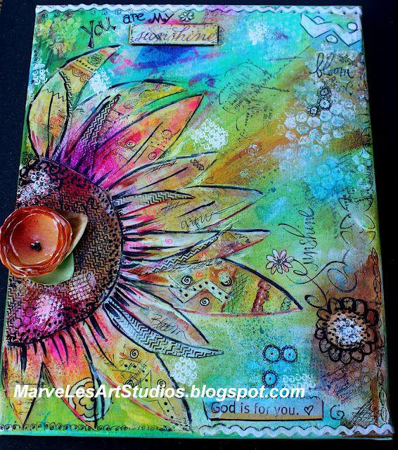 My Sunshine Mixed Media Art Piece   Mixed Media by Leslie ...