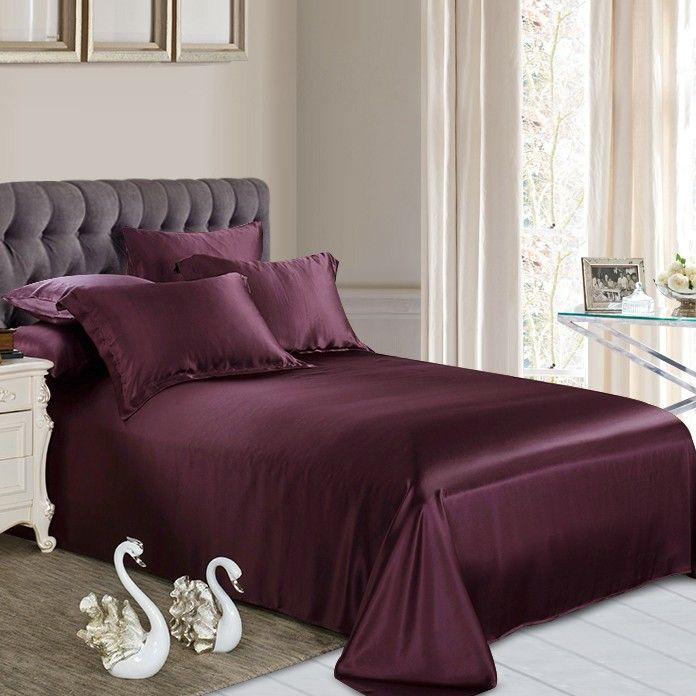 Terrific Grape Silk Flat Sheet High Quality Silk Sheets Best Bed Pdpeps Interior Chair Design Pdpepsorg
