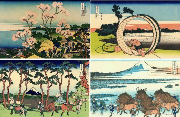 Katsushika Hokusai – Treinta y seis vistas del Monte Fuji (1831-1833)