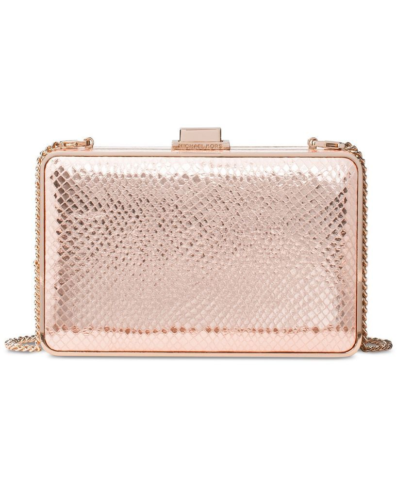 63bf23fe688c MICHAEL Michael Kors Women s Clutch Bag Pearl Medium Box Clutch Bag Soft  Pink  fashion  clothing  shoes  accessories  womensbagshandbags