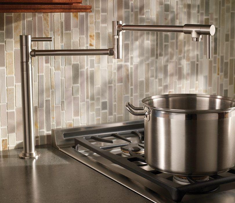 Newport Brass East Linear Deck Mount Pot Filler Brass Kitchen